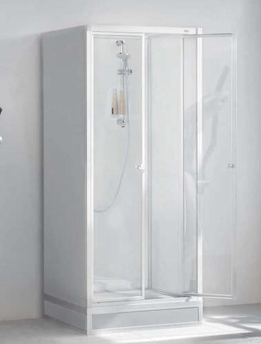 box doccia in vetro / rettangolare / con sportello battente