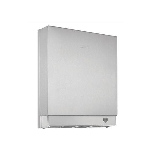 asciugamani elettrico automatico / da parete / da incasso / metallo