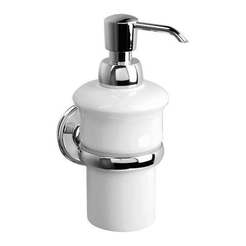 distributore di sapone contract / da parete / in porcellana / manuale