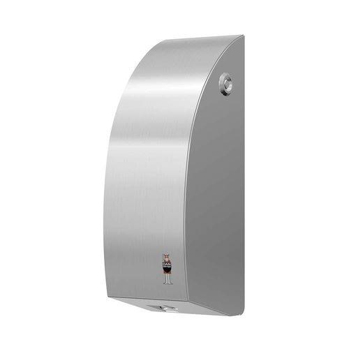distributore di sapone contract / da parete / in acciaio inossidabile spazzolato / elettronico
