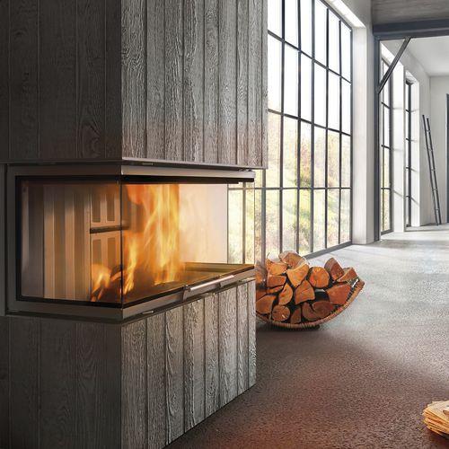 focolare chiuso a legna / a 3 facce / in metallo