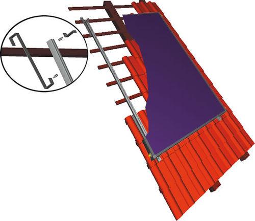 sistema di montaggio per tetto di tegole / su tetto / per collettore solare