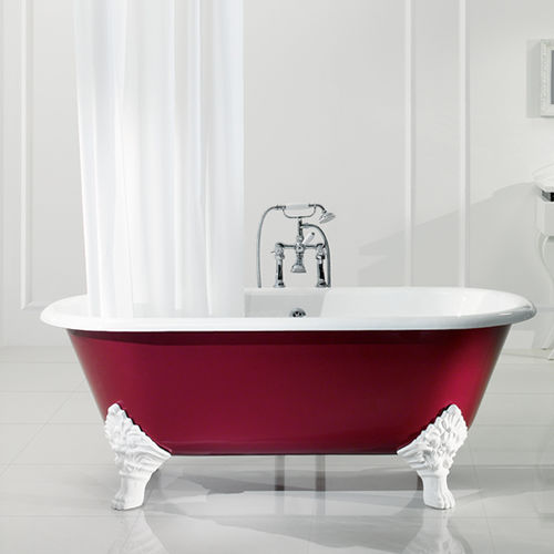 Vasca da bagno su piedi / ovale / in ghisa 3080 BLEU PROVENCE
