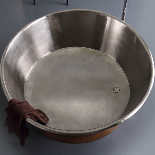 vasca da bagno ad isola / tonda / in rame