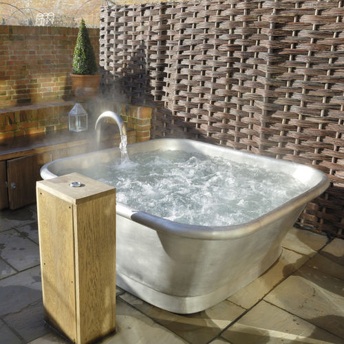 vasca da bagno ad isola / quadrata / in rame / in stagno
