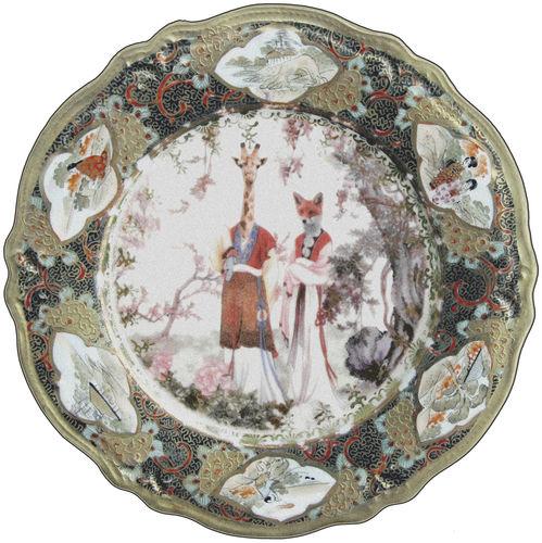 tappeto moderno / a motivi / in poliammide / rotondo