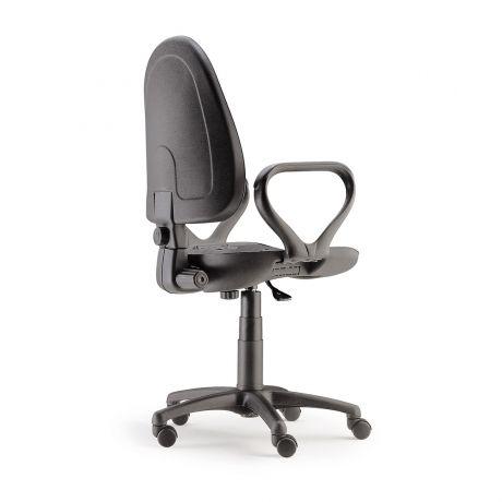 Sedia da ufficio moderna / con braccioli / con rotelle / con base a ...