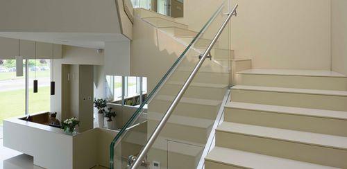 Rivestimento per scalino in pietra SATIN : AVORIO lapitec