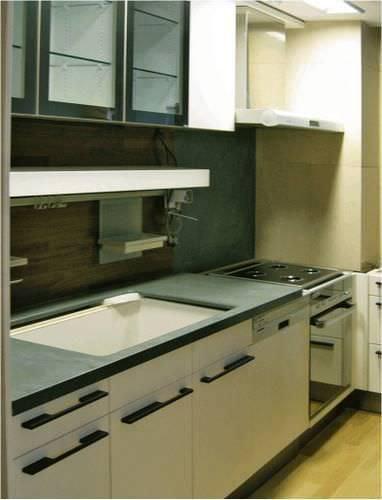 Piano di lavoro per cucina in ardesia / da interno / antimacchia ...
