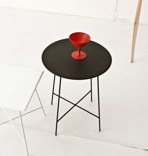 tavolo d'appoggio moderno / in metallo laccato