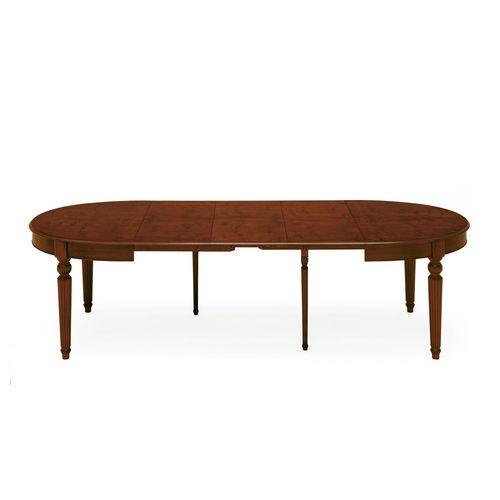 tavolo in stile vittoriano / in noce / ovale / per ristorante