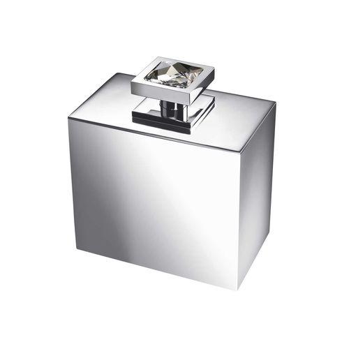 distributore di sapone contract / da appoggio / in metallo cromato / manuale
