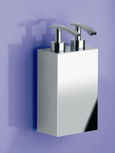 distributore di sapone contract / da parete / in ottone / manuale