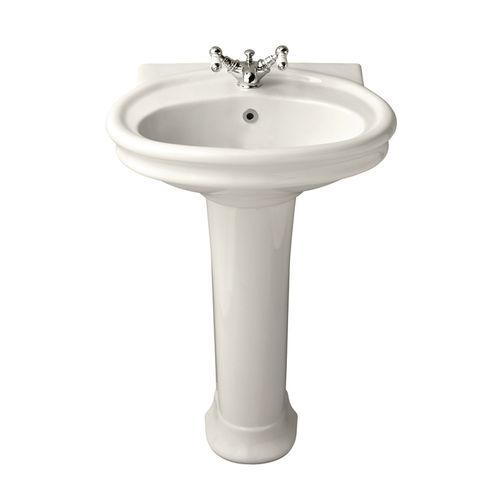 lavabo da terra / ovale / in porcellana / classico