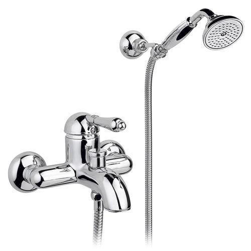 miscelatore per vasca / da parete / in ottone / da bagno