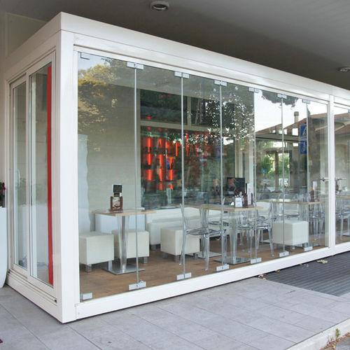 parete pieghevole / vetrata / ad uso professionale