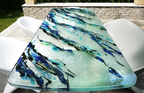pannello decorativo in vetro / per esterni
