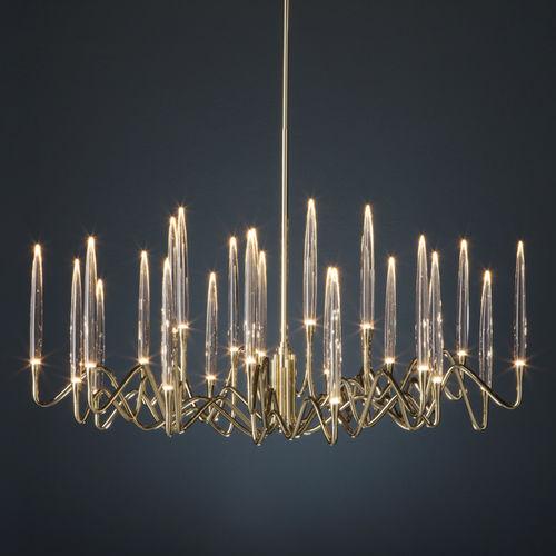 lampadario design originale / in cristallo / in ottone / in nichel