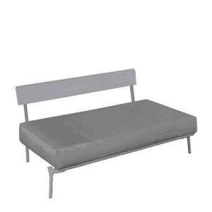 divanetto imbottito moderno / in tessuto / in alluminio / con schienale