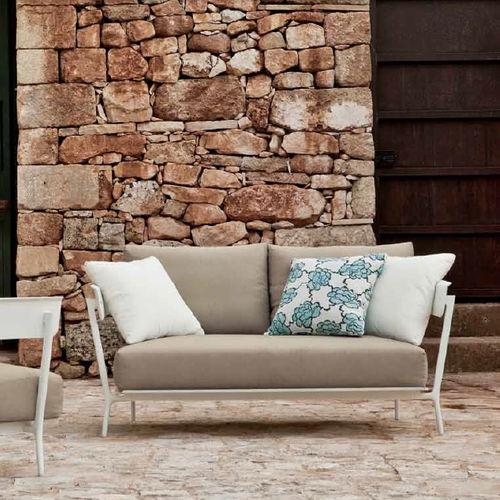 divano moderno / da giardino / in alluminio / 2 posti