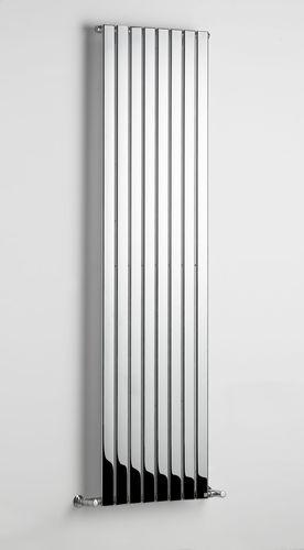 radiatore ad acqua calda / in metallo / cromato / moderno