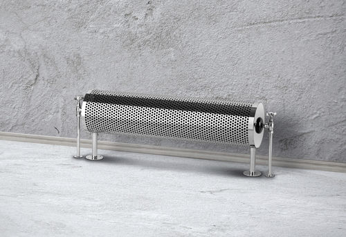 radiatore ad acqua calda / in metallo / cromato / design originale