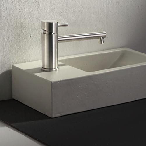 miscelatore per lavabo / in acciaio inox / da bagno