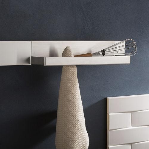 portasalviette a 1 barra / da parete / in acciaio inox