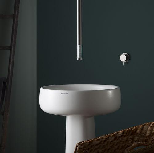 Miscelatore per lavabo / a soffitto / in acciaio inox / in vetro REVITRUM:12534 + 6100 MINA Rubinetterie