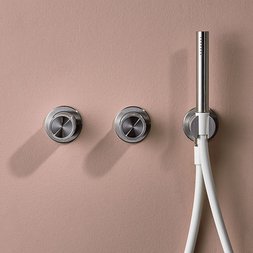 miscelatore doppio comando per vasca / da parete / da incasso / in acciaio inox
