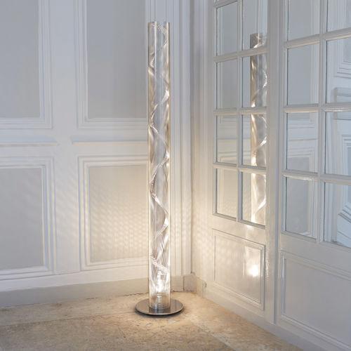 colonna luminosa moderna / in acciaio inox / LED / alogena
