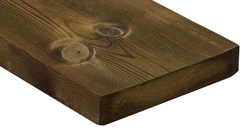 Rivestimento di facciata in legno di latifoglie / liscio / in pannelli / FSC 2336 Kebony