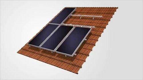 sistema di montaggio per tetto di tegole / integrato / per collettore solare
