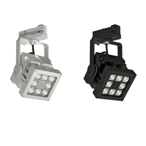 faretti a binario LED / quadrata / in alluminio / professionale