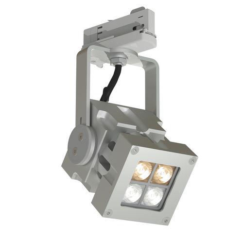 Faretti a binario LED / quadrata / in alluminio massiccio / professionale REVO COMPACT WHITE  CLS LED