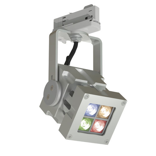 Faretti a binario LED RGB / quadrata / in alluminio massiccio / professionale REVO COMPACT COLOUR CLS LED