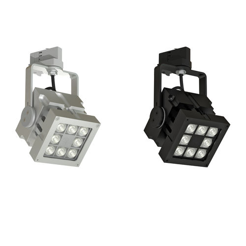 Faretti a binario LED / quadrata / in metallo / professionale REVO TRACK CLS LED