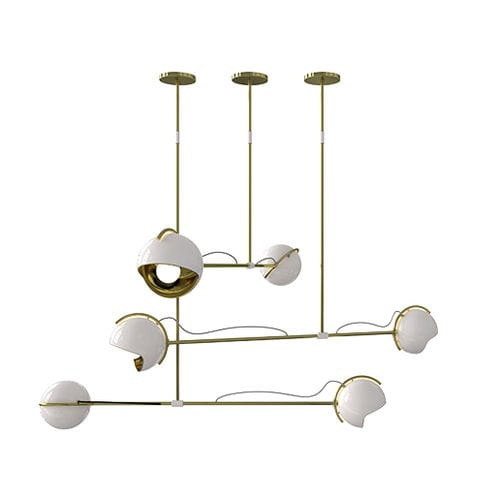 Lampada a sospensione / moderna / in alluminio / in ottone LAINE DelightFULL