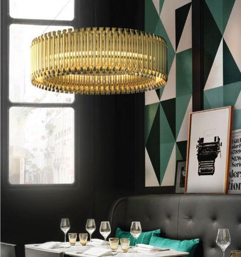 lampada a sospensione / moderna / in ottone / fatta a mano