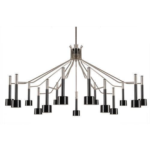 Lampadario moderno / in ottone / alogeno ELLA 15 DelightFULL
