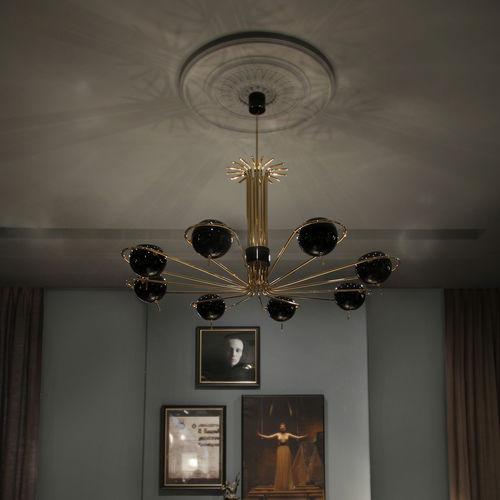 lampadario moderno / in acciaio / in ottone / professionale
