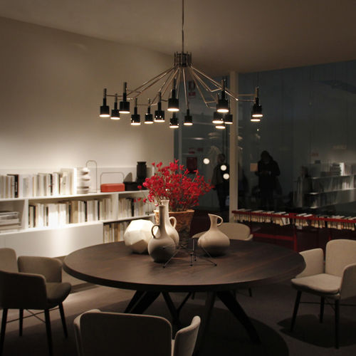 Lampadario moderno / in alluminio / in ottone / fatto a mano ELLA  DelightFULL