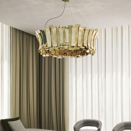Lampada a sospensione / moderna / in ottone / da interno ETTA ROUND DelightFULL