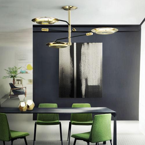 lampada a sospensione / moderna / in ottone / regolabile