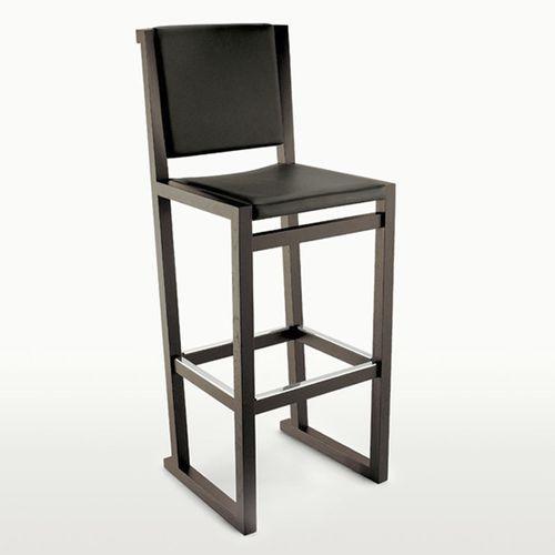 sedia alta moderna / in quercia / in pelle / di Antonio Citterio
