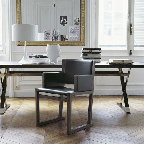sedia moderna / con braccioli / in legno / di Antonio Citterio