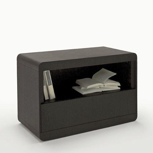 comodino moderno / in legno / rettangolare / con contenitore