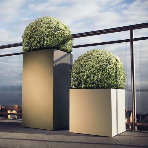 fioriera in alluminio / quadrata / moderna / per spazi pubblici