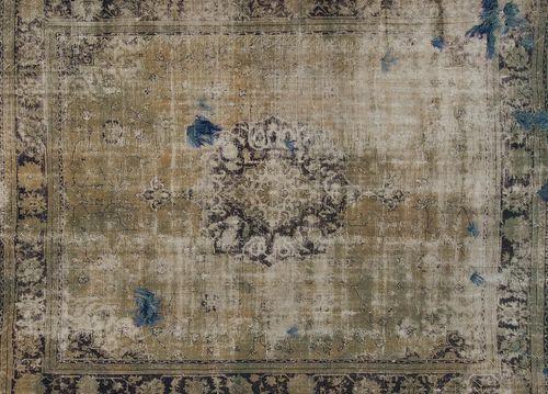 tappeto vintage / a motivi / in lana / in cotone