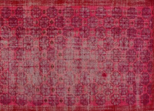 tappeto vintage / a fiori / in lana / in cotone